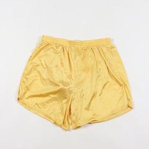 Vintage Silky Nylon Lined Running Jogging Shorts L